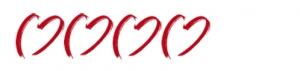 4 Herzen zur Kennzeichnung der 4-Sterne Hotels für Hochzeiten im Ausland.