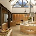 Restaurant mit Buffet im 4-Sterne Preskil Island Resort auf Mauritius.