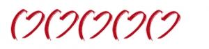 5 Herzen zur Kennzeichnung der 5-Sterne Hotels für Hochzeiten im Ausland.
