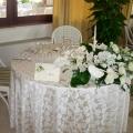 Geschmueckter Hochzeitstisch im 4-Sterne Hotel Baia di Nora in Pula auf Sardinien.