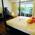 Zimmer mit Balkon und Meerblick im 4-Sterne Hotel Blue Haven auf Tobago.