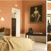 Braeutigam auf Bett und am Schreibtisch im 4-Sterne Hotel Ca´ Nigra Lagoon Resort in Venedig.