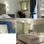 Innenansicht von Zimmern im 4-Sterne Hotel Ca´ Nigra Lagoon Resort in Venedig.