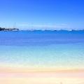 Blick von Strand auf die Segelboote im 4-Sterne The Calabash Hotel auf Grenada.