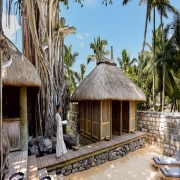 Spa-Huetten im 4-Sterne Canonnier Beachcomber Golf Resort & Spa auf Mauritius.