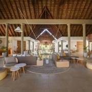 Eingangsbereich im Hotel im 4-Sterne Canonnier Beachcomber Golf Resort & Spa auf Mauritius.