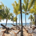 Restaurantterrasse im 4-Sterne Canonnier Beachcomber Golf Resort & Spa.