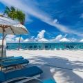 Sonnendeck im 5-Sterne Hotel Coco de Mer & Black Parrot Suites auf der Insel Praslin, Seychellen.