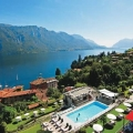 Der Ausblick auf den Comersee und die Berge im 4-Sterne Hotel Belvedere am Comersee.
