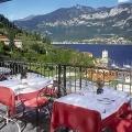 Die Terrasse mit Blick auf den Comersee im 4-Sterne Hotel Belvedere.