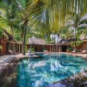 Spaanlage im 6-Sterne Hotel Dinarobin Beachcomber Golf Resort und Spa auf Mauritius.