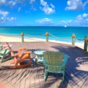 Sonnenterrasse im 4-Sterne Galley Bay Resort und Spa auf Antigua.