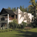 Aussenansicht des Gebauedes im 5-Sterne Hotel Hilton Mauritius Resort und Spa.