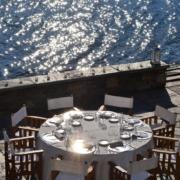 Terrasse im 4-Sterne Hotel San Roco am Ortasee.