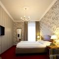 Innenansicht im Superior Doppelzimmer im 4-Sterne Hotel am Mirabellplatz in Salzburg.