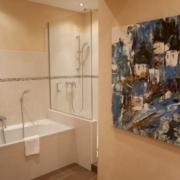 Badezimmer im 4-Sterne Hotel am Mirabellplatz in Salzburg