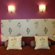 Bett im 4-Sterne Bunchrew House Hotel in Inverness in Schottland.