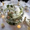 Dekorierter Hochzeitstisch im 4-Sterne Bunchrew House Hotel in Inverness in Schottland.