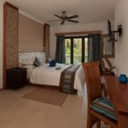 Innenansicht Zimmer im 4-Sterne Hotel Le Duc de Praslin, auf den Seychellen.