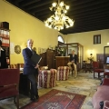 Die Rezeption im 3-Sterne Plus Hotels Locanda del Corte in Venedig.