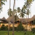 Die Gebaeude des 4-Sterne Ocean Paradise Resort vom Garten aus betrachtet.