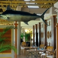 Eingang zum Restaurant Le Blue Marlin im 5-Sterne Hotel Paradis Beachcomber Golf Resort und Spa.