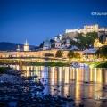 Blick vom rechten Salzachufer auf die Salzburger Altstadt mit Festung Hohensalzburg Copyright ©Tourismus Salzburg