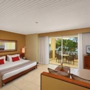 Innenansicht eines Zimmers im 5-Sterne Hotel Shandrani Beachcomber auf Mauritius.