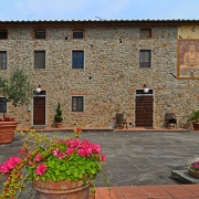Aussenansicht des Landhauses Villa I Sette Borghi in der Toskana