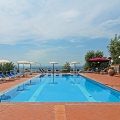 Pool des Landhauses Villa I Sette Borghi in der Toskana.