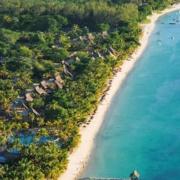 Luftaufnahme des 5-Sterne Hotel Trou aux Biches Mauritius Beachcomber.