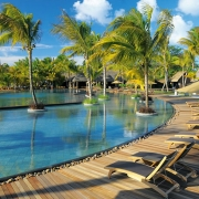 Poolbereich im 5-Sterne Hotel Trou aux Biches Mauritius Beachcomber.