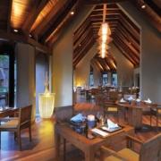 Restaurant von innen im 5-Sterne Hotel Trou aux Biches Mauritius Beachcomber.