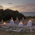 Romantische Dekoration fuer Sektempfang im 4-Sterne Hotel Twelve Apostel in Suedafrika.