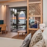 Innenaufnahme eines Zimmers im 4-Sterne adult-only Hotel Victoria For 2 auf Mauritius.