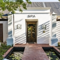 Eingang zum Spa im Lanzerac Hotel & Spa Suedafrika.