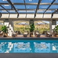 Spa mit Pool im Lanzerac Hotel & Spa Suedafrika.