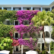 Der Innenhof des Hotels Winchester Mansions, in Kapstadt.