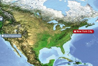 Detailkarte von New York, die Location fuer Heiraten im Ausland.