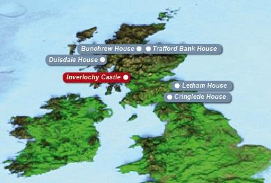 Detailkarte von Schottland mit eingezeichnetem Hotel Fort Willilam fuer Heiraten im Ausland.
