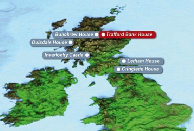 Detailkarte von Schottland mit eingezeichnetem Guesthouse Trafford Bank Guest House fuer Heiraten im Ausland.