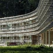 Aussenansicht des 5-Sterne Hotels Vigilus am Vigiljoch bei Meran.