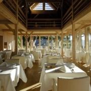 Restaurant im 5-Sterne Hotel Vigilus am Vigiljoch bei Meran.