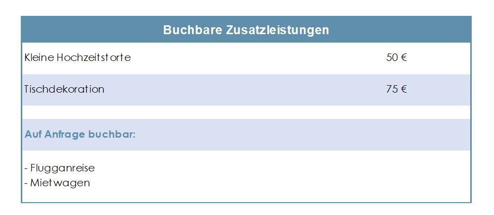 Ambiente-Guesthouse-Zusatzleistungen-Tabelle-2019