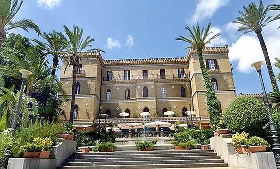 Ansicht des 5-Sterne Hotels Grand Hotel Timeo in Taormina auf Sizilien.