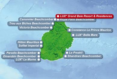 Landkarte Mauritius